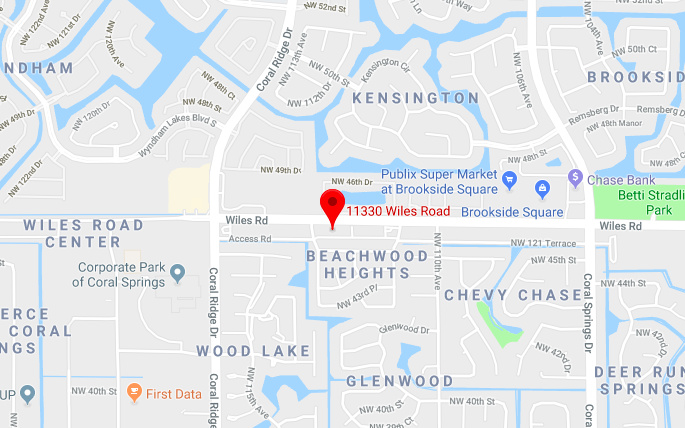 Map Of Coral Springs Florida.Dr P In Coral Springs